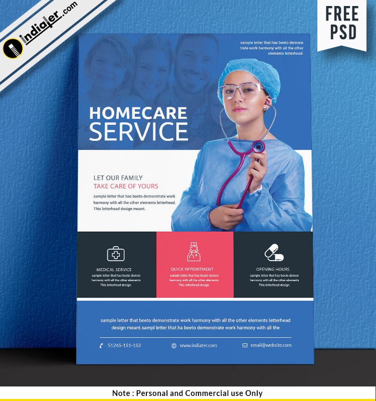 free-home-health-care-service-flyer-psd-template