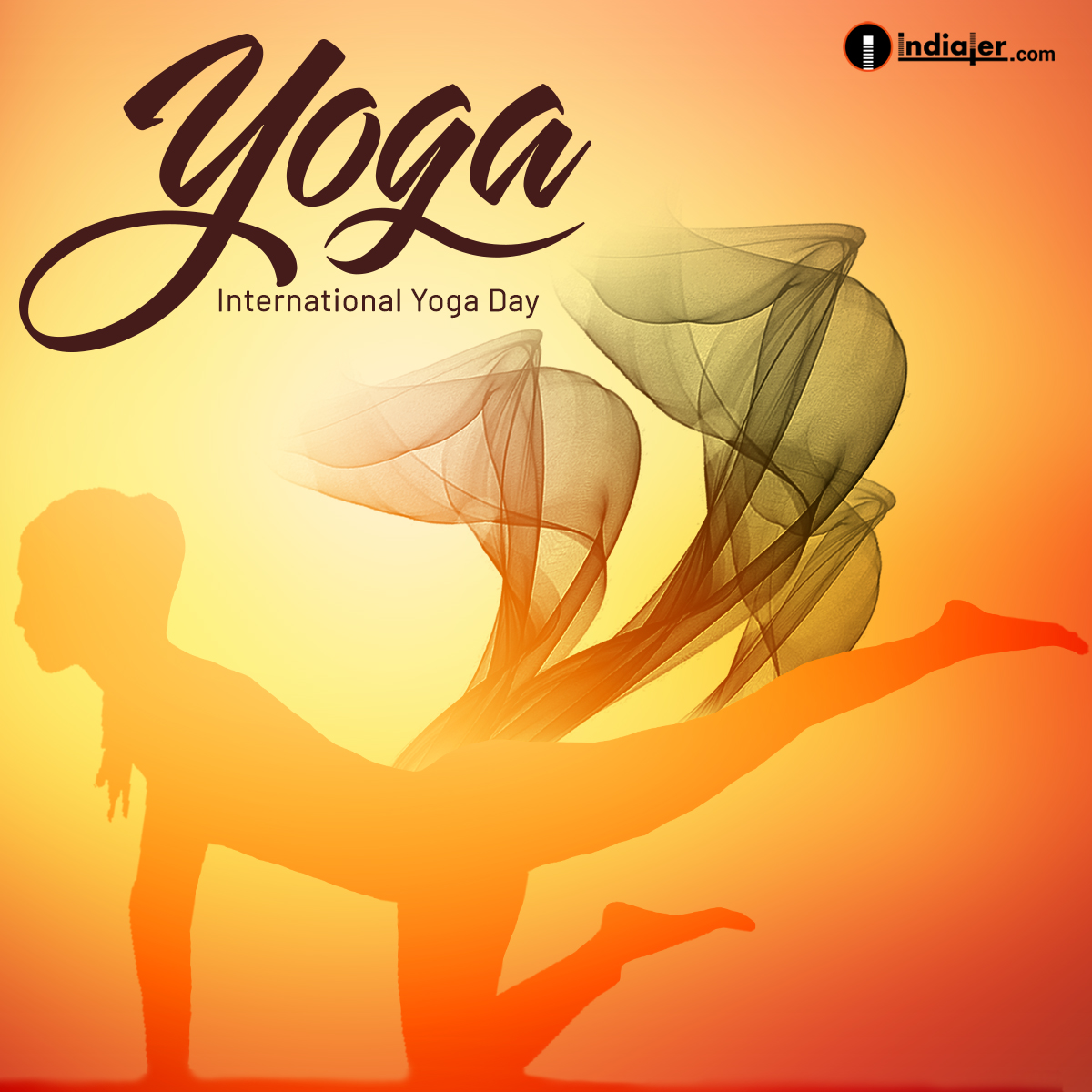 International Yoga Day Free Creative Design Template PSD