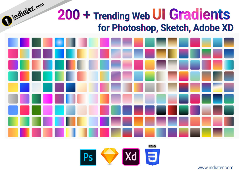 200 + trending Web Ui gradients for Photoshop, Sketch, Adobe XD