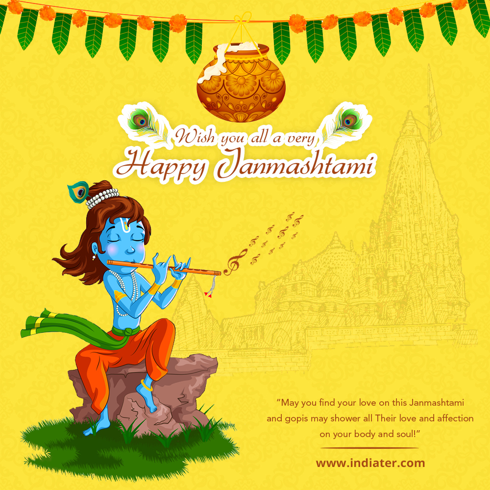 Happy-Janmashtami-Design-Background,Dahi-Handi-Celebration