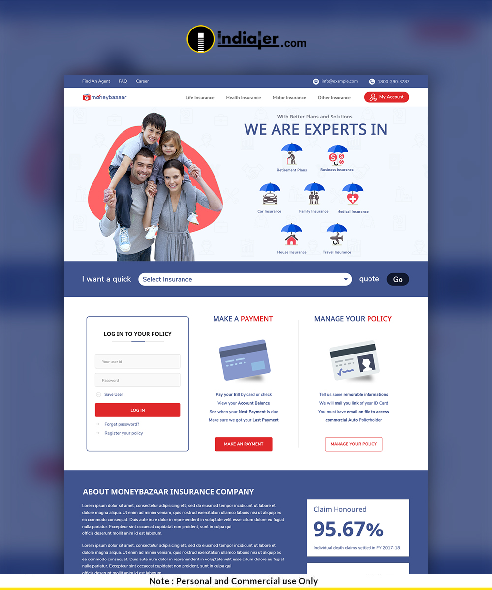 Insurance Website Template for Insurance Agency-preview