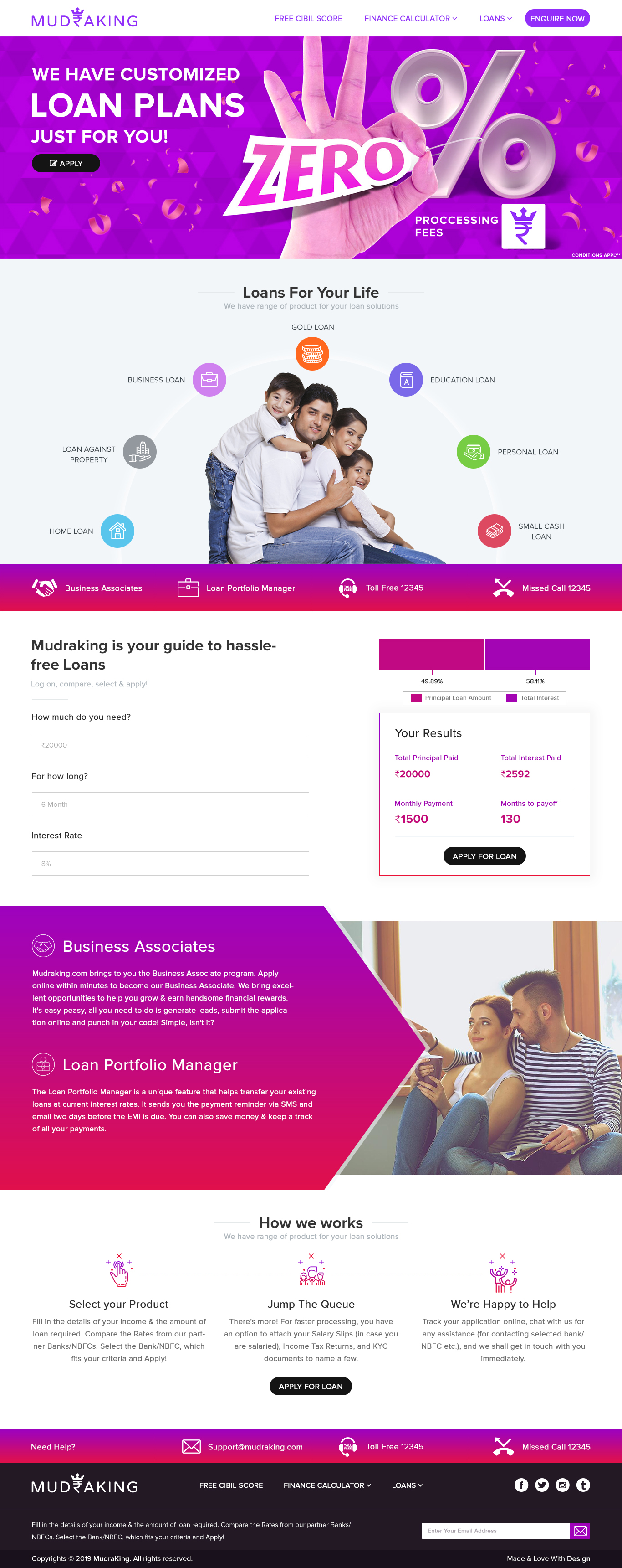 Banking-and-Business-Loan-PSD-Template-with-free-logo