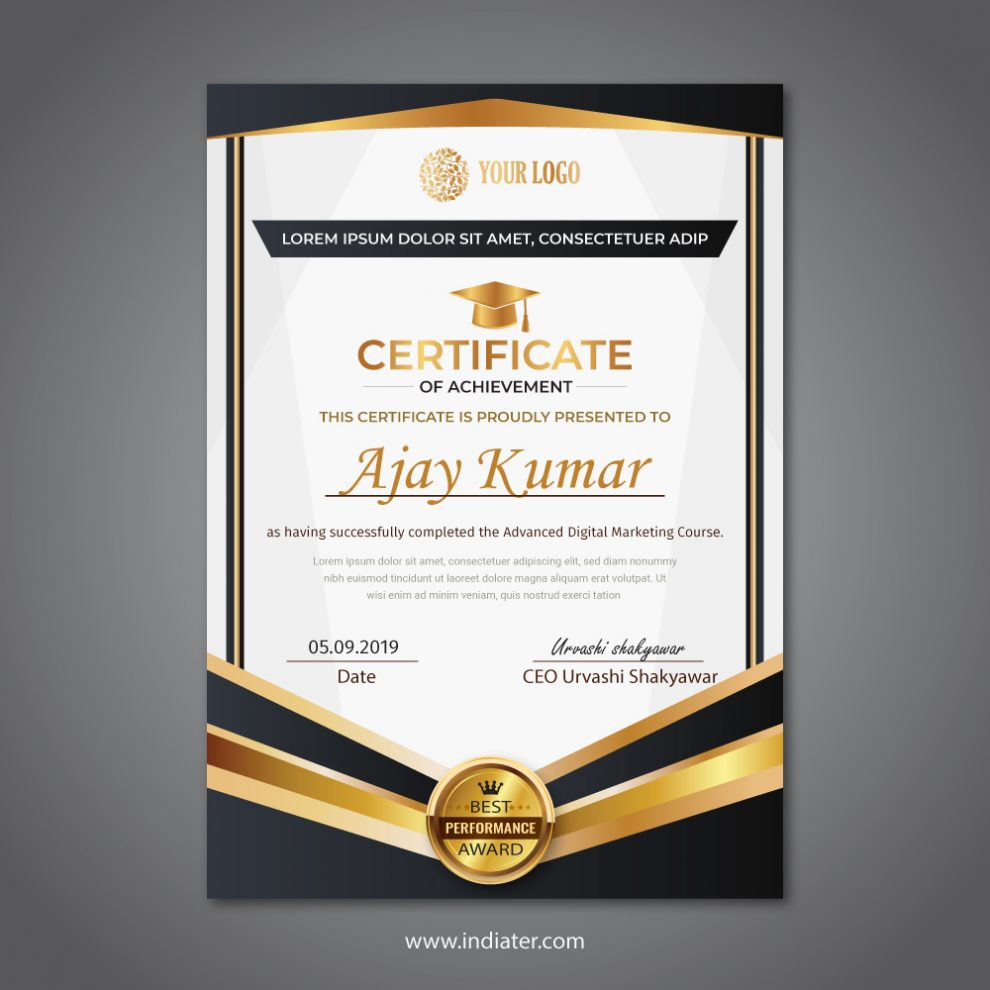 certificate-best-performance-award-design-competition-free-Ai-template