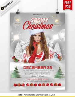 free printable Christmas party flyer templates | Poster Templates