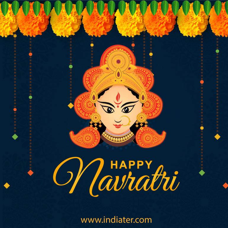 happy-navratri-creative-free-vector-download