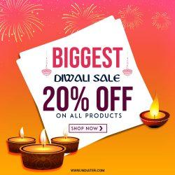 Biggest Diwali Festival Sale Offer Banner free PSD