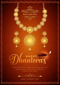 free-dhanteras-celebration-jewellery-sale-promotion-flyer