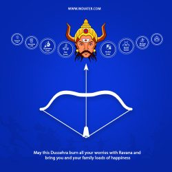 Free Happy Dussehra PSD Banner For Business Loan Concept Design Template