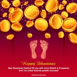 Happy Dhanteras wishes images, greeting card, Photo free download