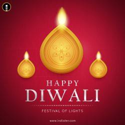 Happy-Diwali-Hindu-festival-banner-card-Burning-diya-illustration-background-for-light-festival-of-India