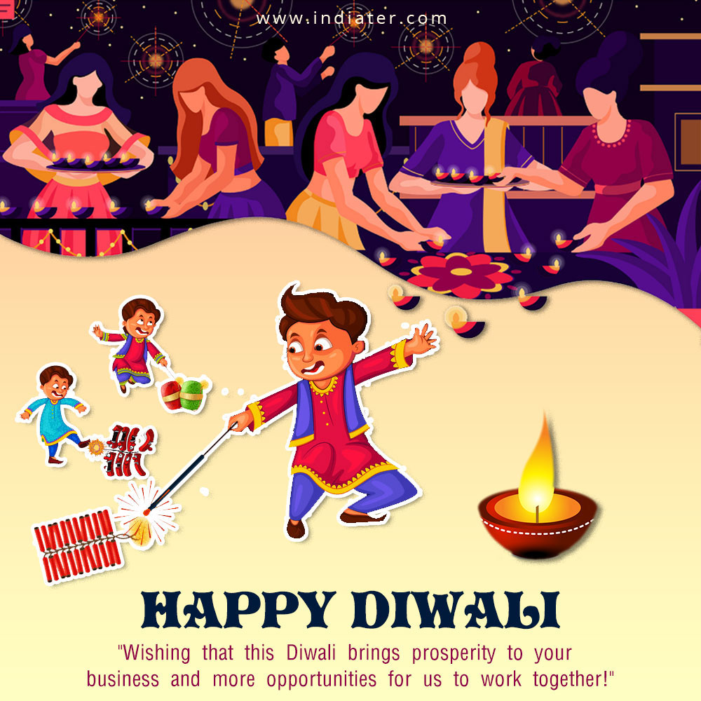 Creative Diwali Festival Template Design with Happy Diwali Celebration image