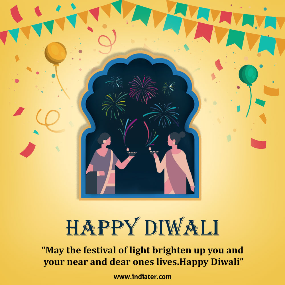 Wishing You Happy Diwali greetings Card design Photo