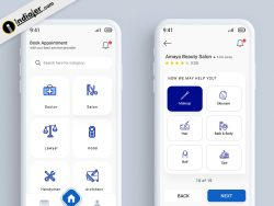 Appointment Booking Mobile App UI Design Template Free