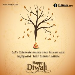 Celebrate ECO Friendly Diwali Greetings card image design