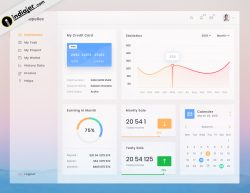 Company Earning System's Admin Panel Dashboard Template