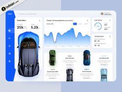 Creative Car Dashboard Sketch template free