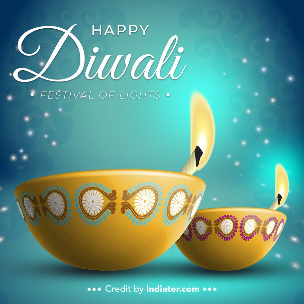 creative-diwali-festival-diya-greeting-vector-image