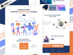 Digital Marketing Agency Creative website template free PSD