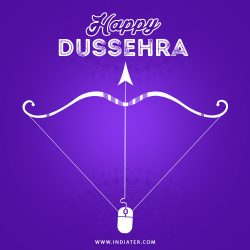 free-happy-dussehra-festival-celebration-background-design-with-bow-and-arrow