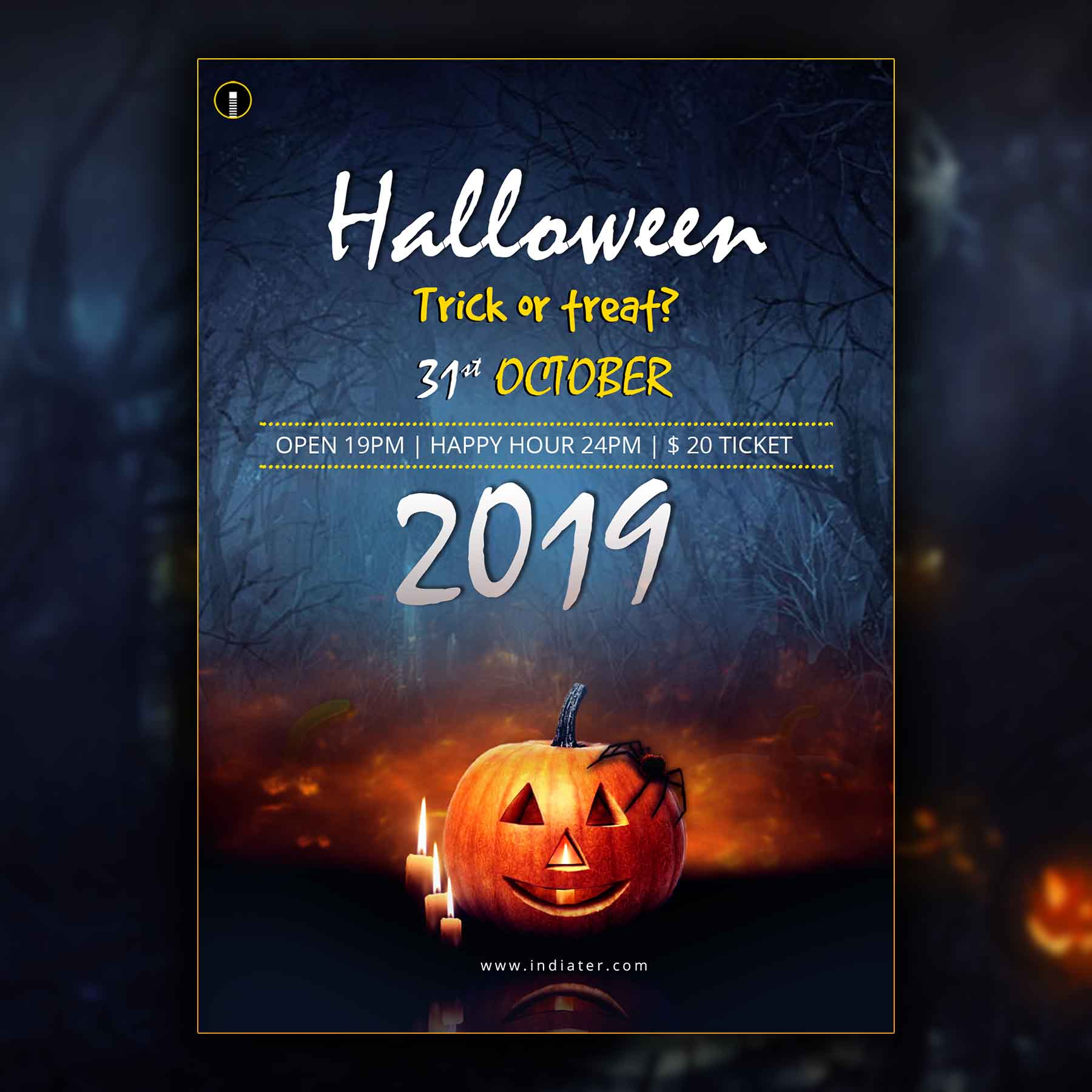 Halloween 2020 Party Flyer Template Free Download