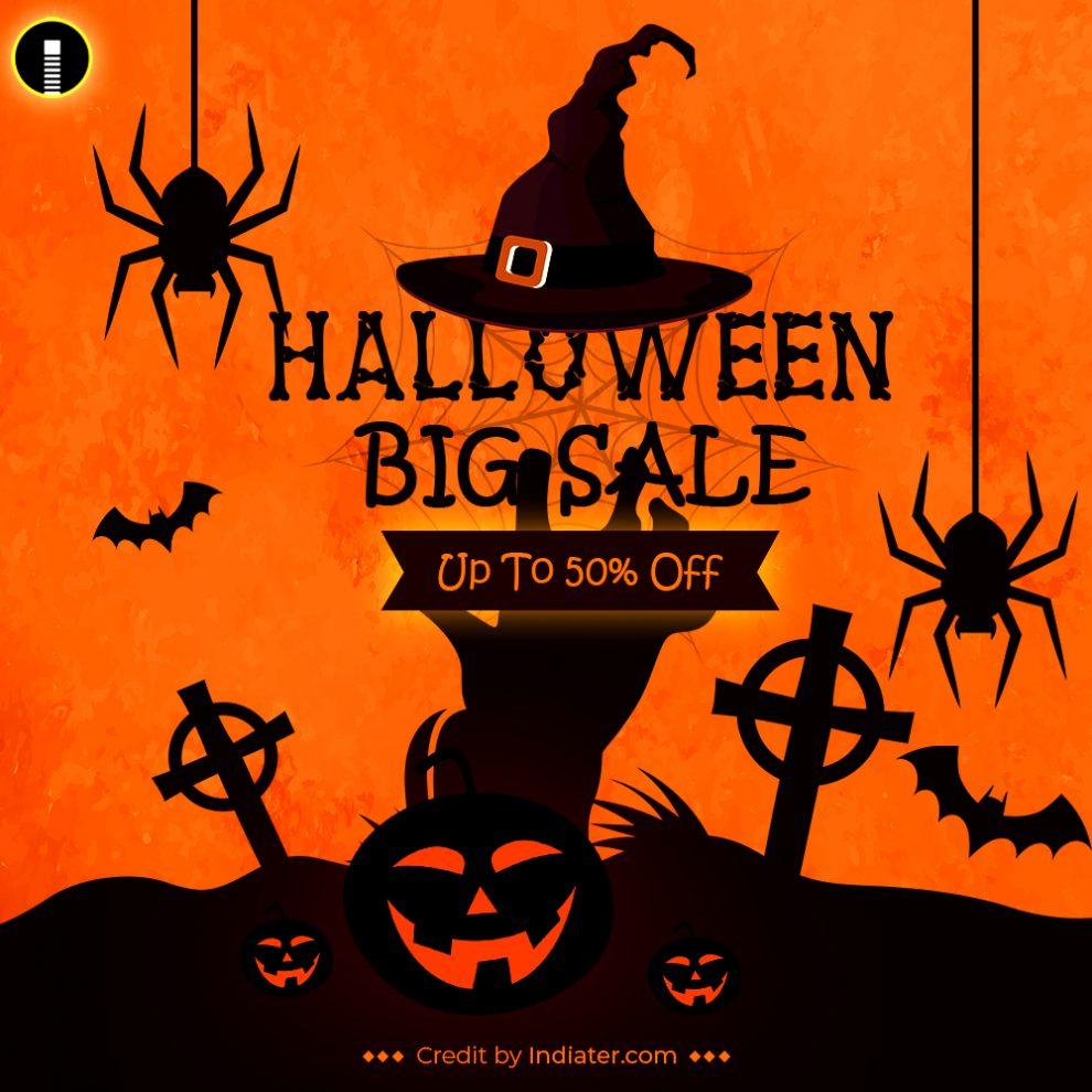 halloween-big-sale-with-scary-faced-vector
