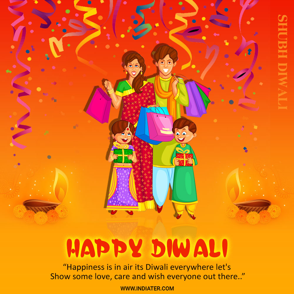 Happy Diwali Wishes festival image with greetings
