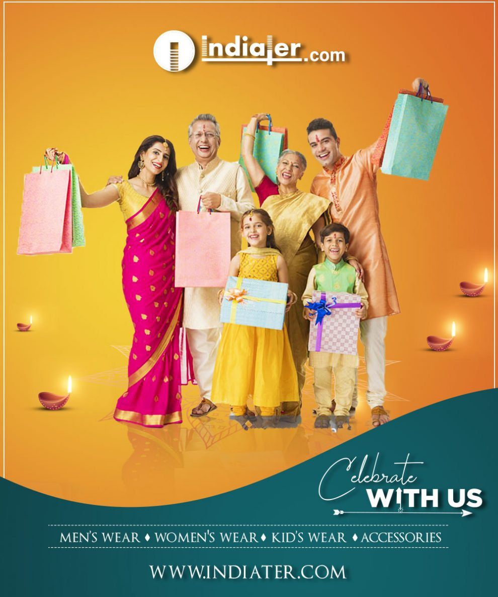 Happy Diwali Sale promotion advertisement free PSD