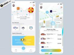 Modern Transport App Concept UI Kit Free Download