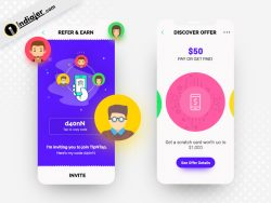Refer Earn and Offer Screen UI mobile App Designs