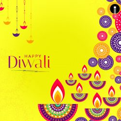 Shubh (Happy) Diwali Celebration Greeting Card Design image