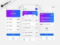 Wallet Money Budget Finance Tracker Mobile App UI Kit