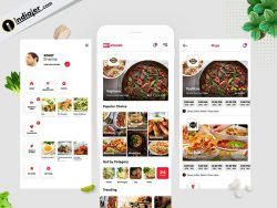 Restaurant Mobile App Design Template in Adobe Photoshop