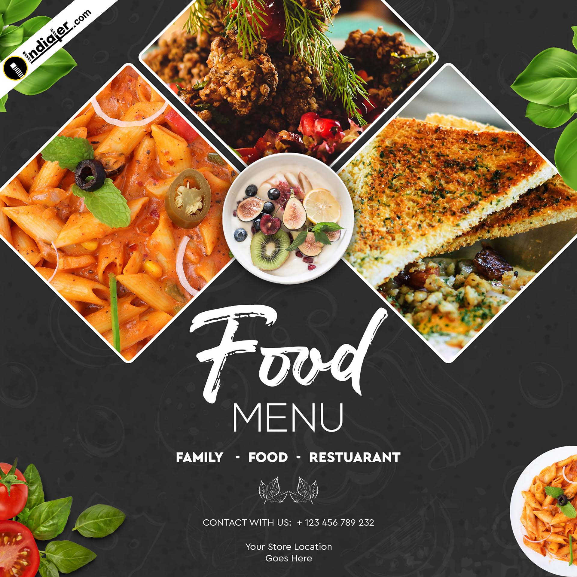 food banner design template free psd download