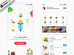 Food Delivery App Design UI KIt in Adobe XD and Photoshop