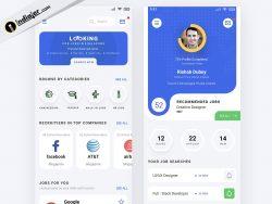 Job Seeker Mobile App UI Kit design in Adobe XD