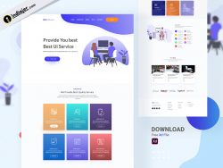 UI Designing Services Website Template in Adobe XD