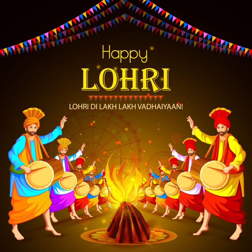 Download Free Happy Lohri holiday festival of Punjab India ...