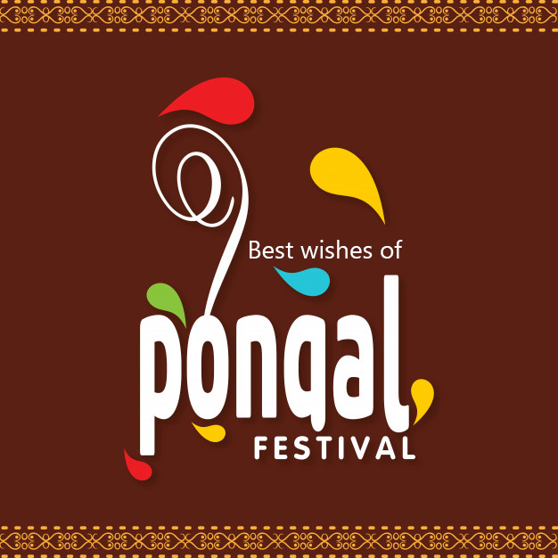 illustration of Happy Pongal greeting background Festival of south india