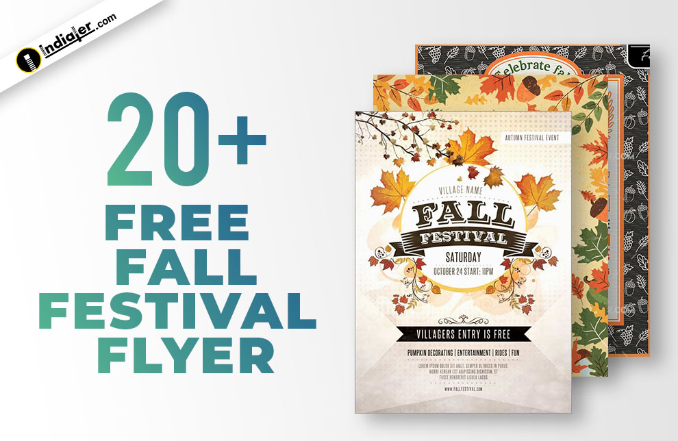 Fall Festival Flyer Design Template from indiater.com