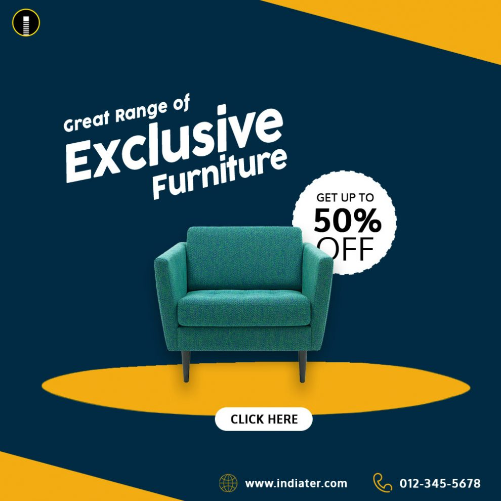 best furniture selling social media banner template design