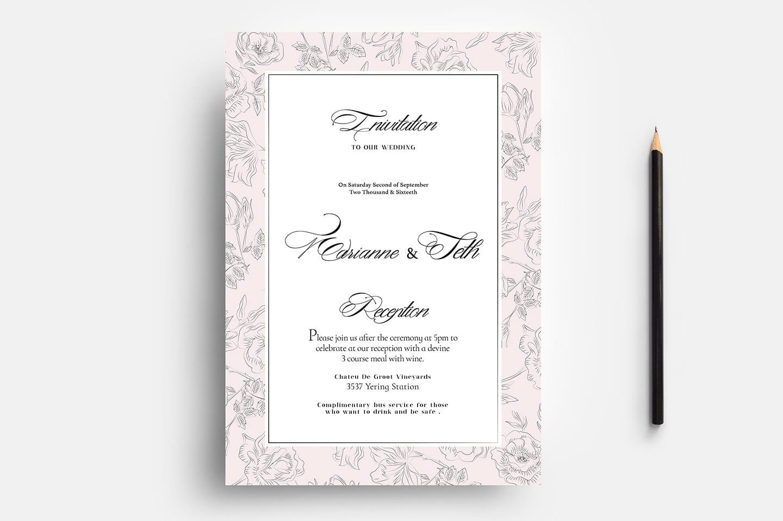 Editable Wedding Invitation Templates Free Download Indiater