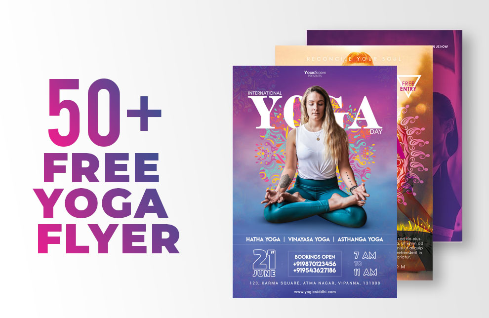 Free 50 International Yoga Flyer Psd Templates Indiater