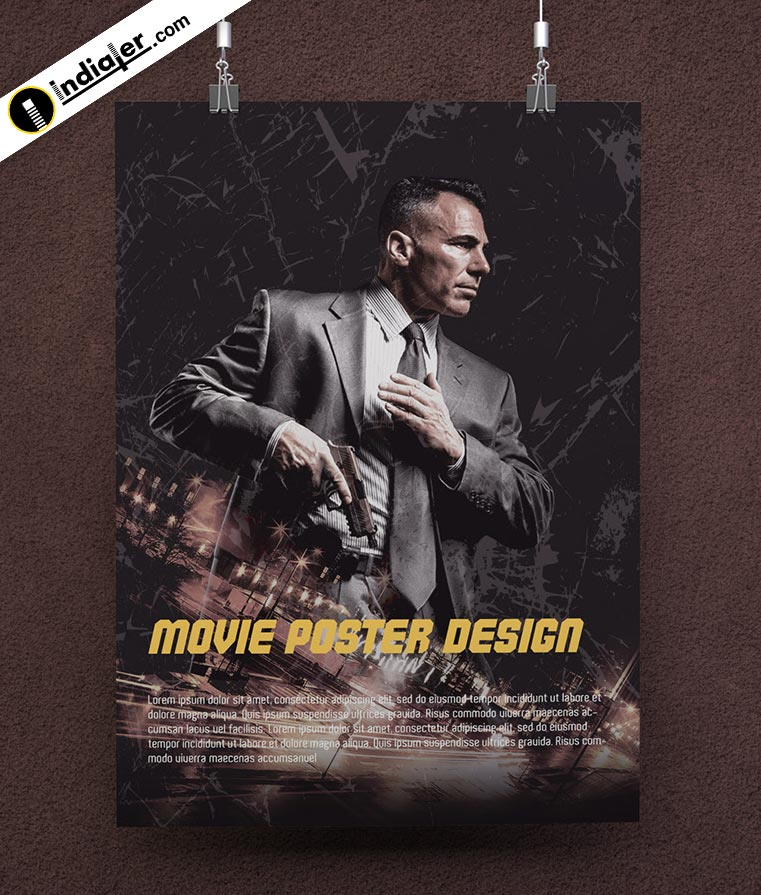 Hollywood Action Movie Poster Free